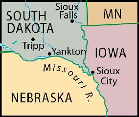 Location of Tripp, SD